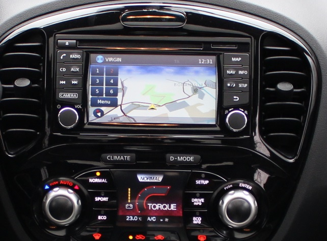 GPS car radio Nissan Juke